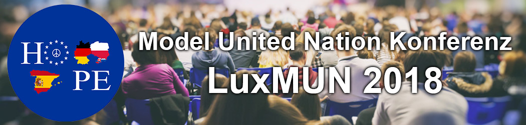 LMRL-HOPEclub organisiert Model United Nation Konferenz LuxMUN 2018