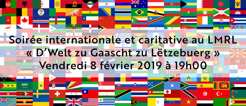 Soirée internationale et caritative au LMRL